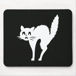 Tapis De Souris Cadeaux mignons d'animal familier blanc de chat