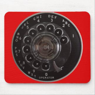 Tapis De Souris Cadran rotatoire vintage Mousepad de téléphone