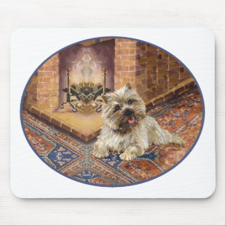 Tapis De Souris Cairn Terrier par la cheminée confortable