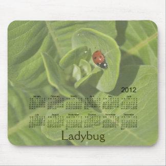 Tapis De Souris Calendrier 2012 de coccinelle Mousepad