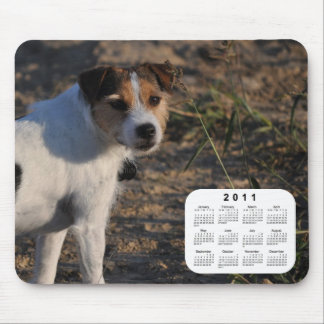 Tapis De Souris Calendrier de 2011 chiens - pasteur Jack Russell