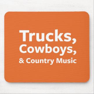 Tapis De Souris Camions, cowboys et musique country