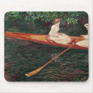Tapis De Souris Canotage de Claude Monet   sur la rivière Epte