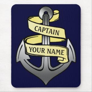 Tapis De Souris Capitaine de bateau personnalisable votre ancre