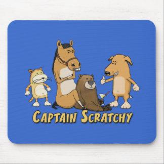 Tapis De Souris Capitaine drôle Scratchy