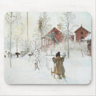 Tapis De Souris Carl Larsson - cour et la Chambre de lavage