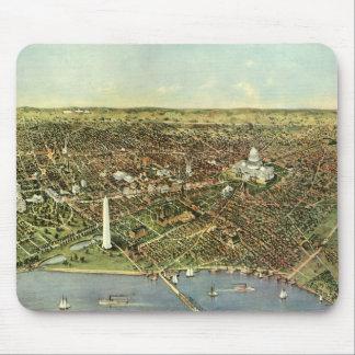 Tapis De Souris Carte antique, vue panoramique de Washington DC