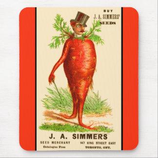 Tapis De Souris carte commerciale victorienne d'homme de carotte
