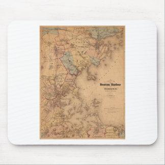 Tapis De Souris Carte de Boston 1861