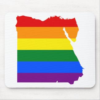Tapis De Souris Carte de drapeau de l'Egypte LGBT