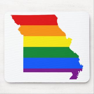 Tapis De Souris Carte de drapeau du Missouri LGBT