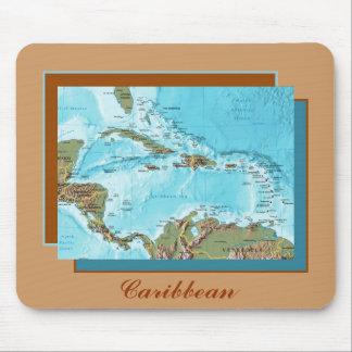 Tapis De Souris Carte des Caraïbes Mousepad