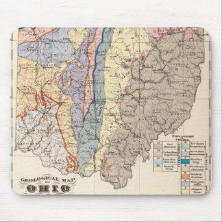 Tapis De Souris Carte géologique de l'Ohio