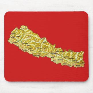 Tapis De Souris Carte Mousepad du Népal