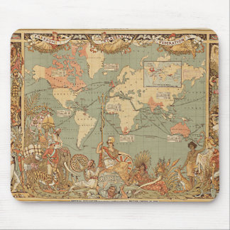 Tapis De Souris Carte victorienne vintage d'Empire Britannique