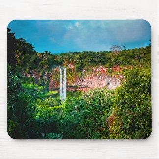 Tapis De Souris Cascade tropicale de forêt tropicale