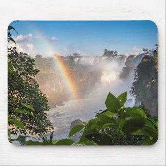 Tapis De Souris Cascades d'Iguazú avec l'arc-en-ciel, Argentine