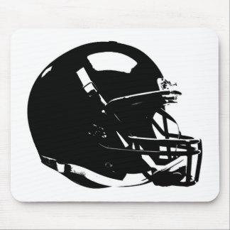 Tapis De Souris Casque de football blanc noir d'art de bruit