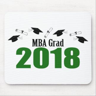 Tapis De Souris Casquettes du diplômé 2018 de MBA et diplômes