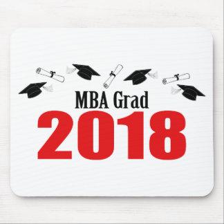 Tapis De Souris Casquettes et diplômes 2018 (rouge) de diplômé de