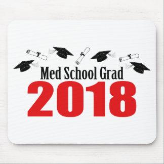 Tapis De Souris Casquettes et diplômes du diplômé 2018 d'école de