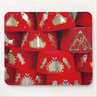 Tapis De Souris Casquettes rouges de Fez au marché
