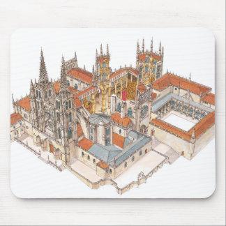 Tapis De Souris Cathédrale de Burgos. L'Espagne
