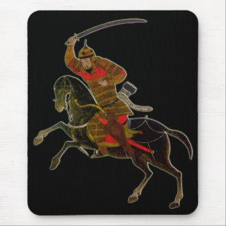 Tapis De Souris Cavalier mongol dans la bataille