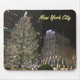 Tapis De Souris Centre de Rockefeller d'arbre de Noël de NYC New