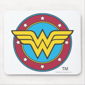 Tapis De Souris Cercle de la femme de merveille | et logo