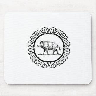 Tapis De Souris cercle de marche de porc
