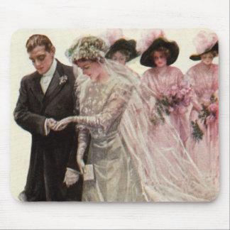 Tapis De Souris Cérémonie de mariage victorienne vintage, marié de