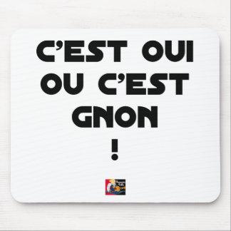 Tapis De Souris C'EST OUI OU C'EST GNON ! - Jeux de mots