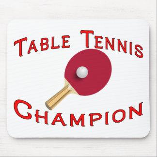 Tapis De Souris Champion de ping-pong