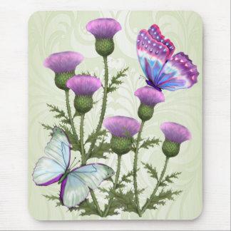Tapis De Souris Chardons et papillons