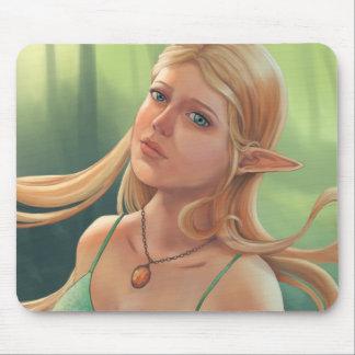 Tapis De Souris Charlotte - portrait d'Elven d'imaginaire
