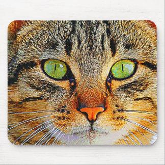 Tapis De Souris Chat aux yeux verts fascinant