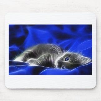 Tapis De Souris chat bleu