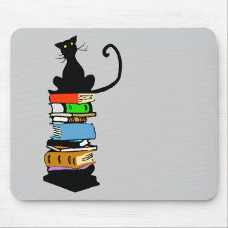 Tapis De Souris Chat de bibliothèque