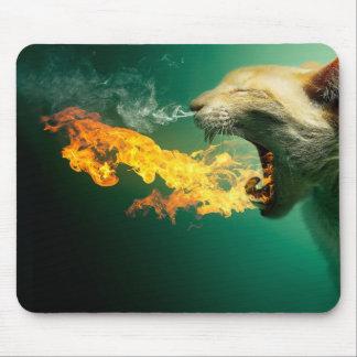 Tapis De Souris Chat du feu - chat de flamme - chat scaredy - chat