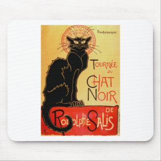 Tapis De Souris Chat noir vintage d'Art Nouveau Le Chat Noir