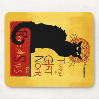 Tapis De Souris Chat noir Vintage Tournée du Chat Noir, Mousepad