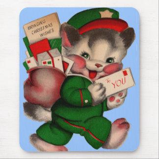 Tapis De Souris chaton adorable de courrier fournissant des