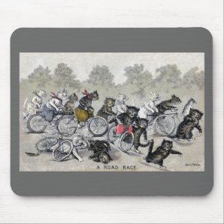 Tapis De Souris Chats d'équitation de bicyclette