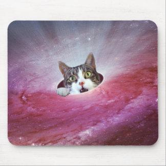 Tapis De Souris Chats LOL Mousepad drôle de l'espace de galaxie