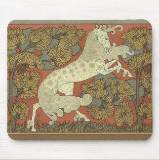 Tapis De Souris Cheval caracolant de Nouveau d'art