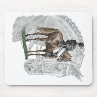 Tapis De Souris Cheval de dressage de salut de X-Halte