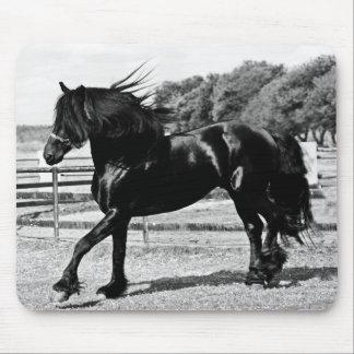 Tapis De Souris Cheval noir de beauté
