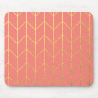 Tapis De Souris Chic moderne d'arrière - plan rose de corail de