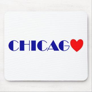 Tapis De Souris chicago j'aime
